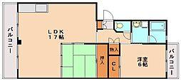 ビュ−ラ−88[2階]の間取り