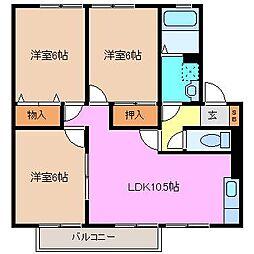 ファミーユ21[1階]の間取り