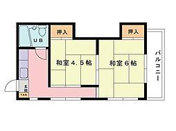福岡県福岡市南区野間2丁目の賃貸マンションの間取り