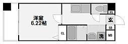 大阪府大阪市淀川区十三本町1の賃貸マンションの間取り