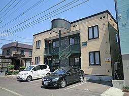 北海道札幌市東区北二十三条東18丁目の賃貸アパートの外観