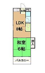 箱崎マンション[2階]の間取り