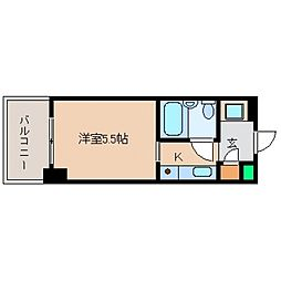 カサベラ岡本[406号室号室]の間取り