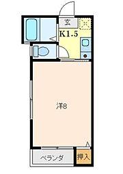 広島県呉市阿賀北9丁目の賃貸アパートの間取り
