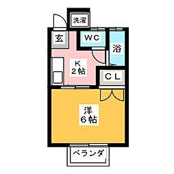 ベルズコート[2階]の間取り