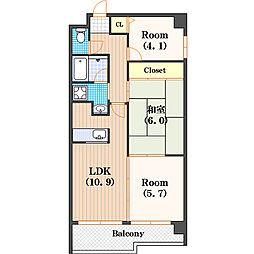 テンフォーティ[8階]の間取り