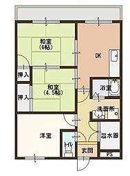 西村マンション[202号室]の間取り