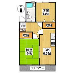 東京都世田谷区千歳台5丁目の賃貸マンションの間取り