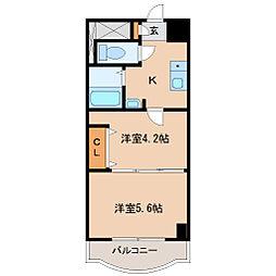 兵庫県尼崎市立花町4の賃貸マンションの間取り