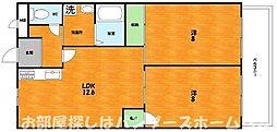 大阪府枚方市大垣内町3丁目の賃貸マンションの間取り