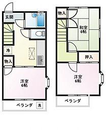 [テラスハウス] 東京都国分寺市戸倉2丁目 の賃貸【/】の間取り