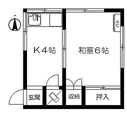 十条荘[2階]の間取り