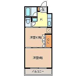 イーグルハイツ錦町[2階]の間取り