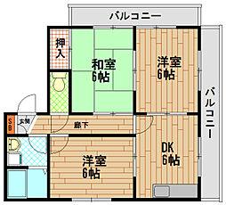 兵庫県神戸市長田区宮川町9丁目の賃貸マンションの間取り