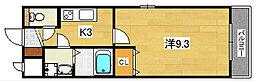 ロータスコート[3階]の間取り