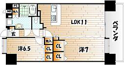 ニューリバー三萩野[10階]の間取り