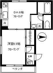 東京都品川区小山台2丁目の賃貸マンションの間取り