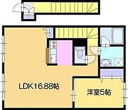 北海道江別市高砂町の賃貸アパートの間取り