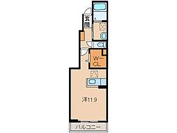 和歌山県和歌山市今福5丁目の賃貸アパートの間取り
