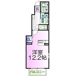 セレーノA[1階]の間取り