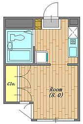 サンクレール相模原 205号室[2階]の間取り
