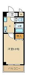 西山本ハイツ[2階]の間取り