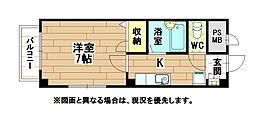 福岡県北九州市小倉北区板櫃町の賃貸マンションの間取り