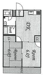 サンコート塚口[202号室]の間取り