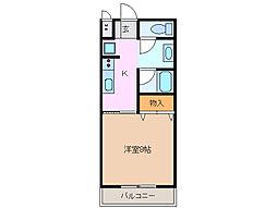 CLAIR KASUMI[1階]の間取り