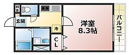 レトア赤松[2階]の間取り