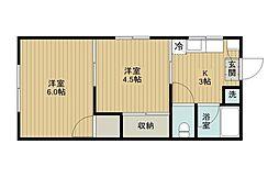 埼玉県さいたま市北区土呂町2丁目の賃貸アパートの間取り