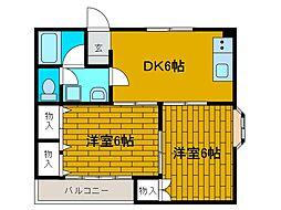 メゾン鶴川[3階]の間取り