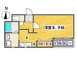サンライフカガヤ[2階]の間取り