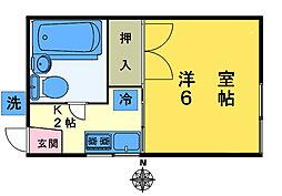 メゾン・ド・スワ[203号室]の間取り