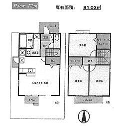 [一戸建] 兵庫県尼崎市武庫町3丁目 の賃貸【/】の間取り