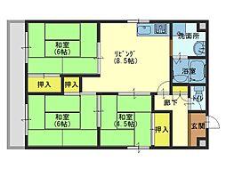 清川第6ビル[2階]の間取り