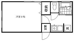 新潟県新潟市東区長者町の賃貸アパートの間取り