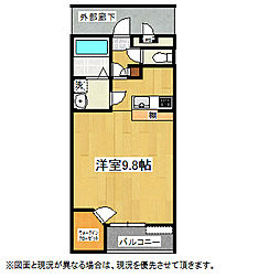 SEIWAII 3階1Kの間取り