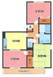 埼玉県さいたま市緑区馬場2丁目の賃貸アパートの間取り