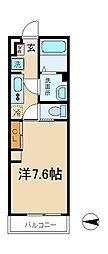 千葉県松戸市上本郷字前田の賃貸アパートの間取り