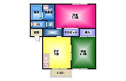 秋桜B[1階]の間取り