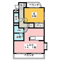 新海ビル[4階]の間取り