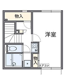 埼玉県新座市野火止5丁目の賃貸アパートの間取り