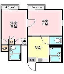 東京都西東京市富士町4丁目の賃貸アパートの間取り
