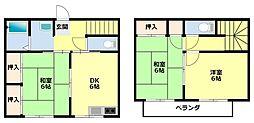 [タウンハウス] 愛知県豊田市朝日ケ丘3丁目 の賃貸【/】の間取り