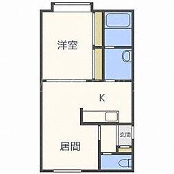 コスモ南郷[4階]の間取り