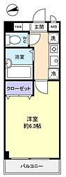 ミリアビタNO.6[1階]の間取り