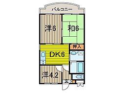 KUK[3階]の間取り