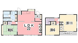 [一戸建] 兵庫県姫路市土山6丁目 の賃貸【兵庫県 / 姫路市】の間取り