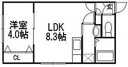 カーサ・フェリーチェ円山鳥居前[5階]の間取り